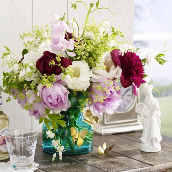 Butterflies Decorations And Peonies, Table Centerpiece Ideas For Summer  Decorating
