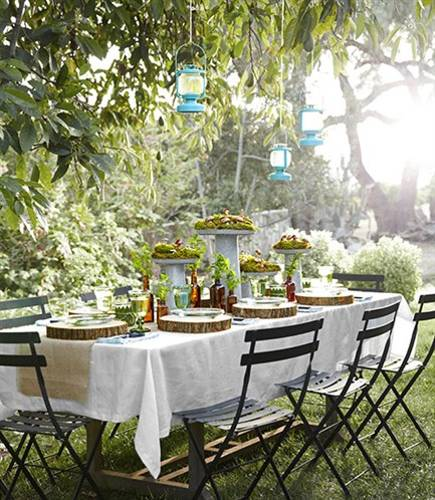 Ideas For Backyard Parties: 12 Simple Tips For Summer Party Table Setting And Outdoor