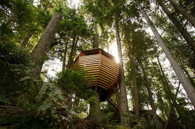 diy projects and handmade treehouse design idea