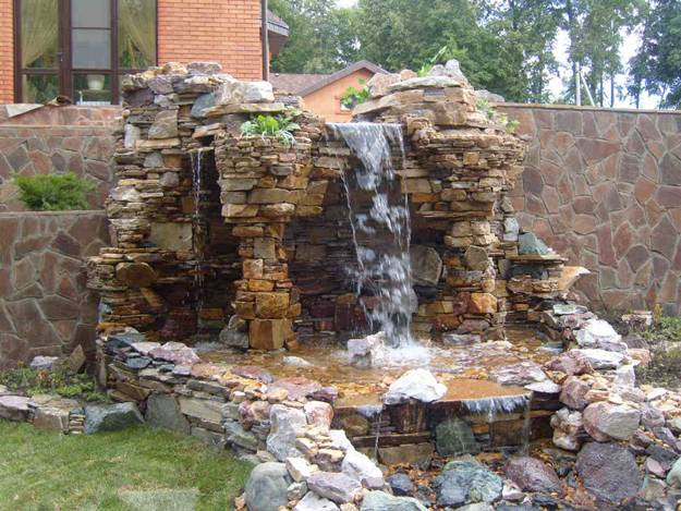 water-features-backyard-waterfall-landscaping-ideas-7 Ideas For Backyard Waterfalls on fire pit ideas for backyard, lawn ideas for backyard, spring ideas for backyard, wall ideas for backyard,
