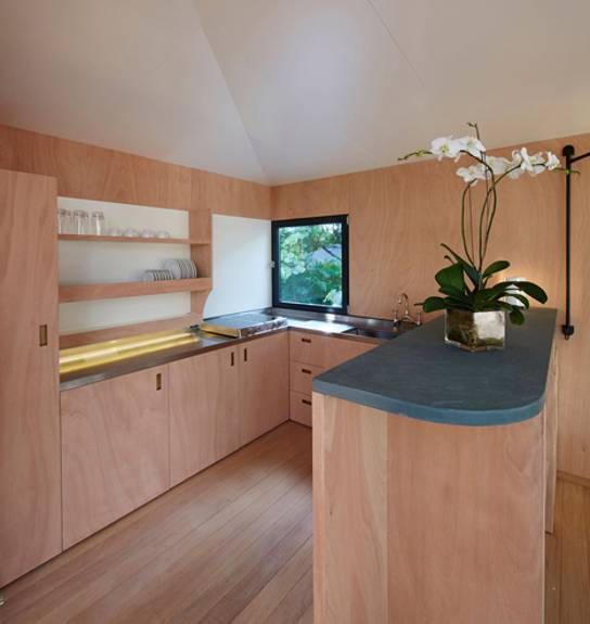 Wooden Interior Design and Decor of Small Beach House in ...
