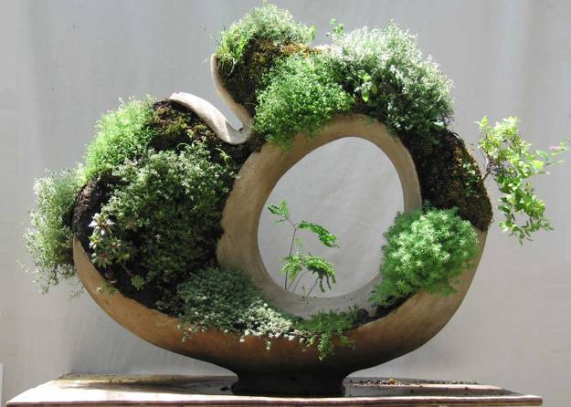 Handmade Concrete Planters Adding Living Sculptures To