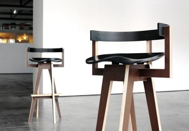 Captivating Rounded Bar Stools Seat, Modern Bar Stools Made With Wood
