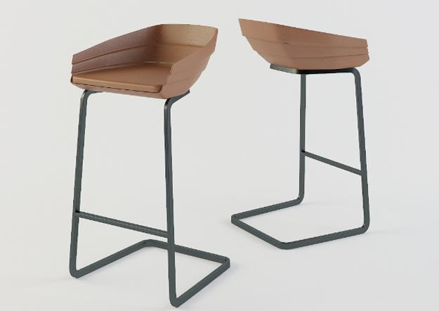 Contemporary Furniture, Bar Stools With Metal Frame And Stylish Seats