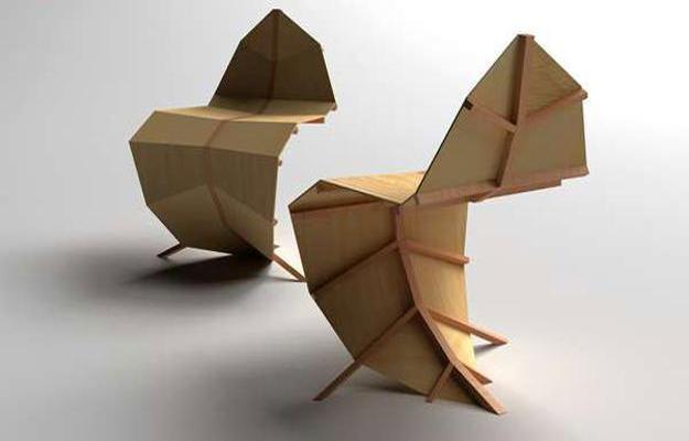 Leaf Inspired Sculptural Furniture Design Modern Bar Stools