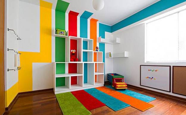 modern furniture for kids, room colors and decoration patterns