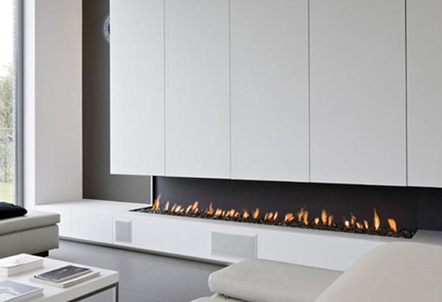 Contemporary Fireplace Design For Modern Living Room