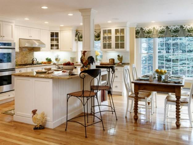 Space Saving Interior Design With Open Kitchen And Dining Area