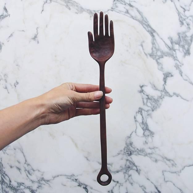 handmade wooden tableware and kitchen utensils