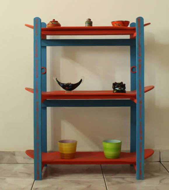 recycled crafts and handmade furniture design with old skateboards