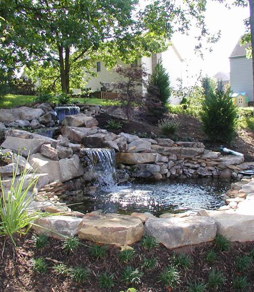 Landscaping Ponds And Waterfalls: 22 Beautiful Waterfalls For Natural Backyard And Front