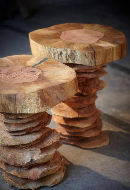 Wood Furniture Creating Artworks With Natural Imperfections