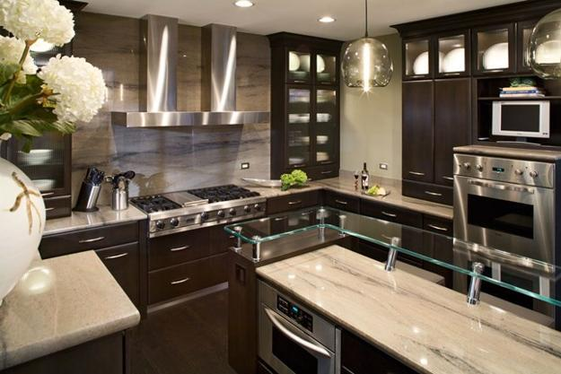 Decorating With Glass Cabinets Doors Brings Light Into Modern