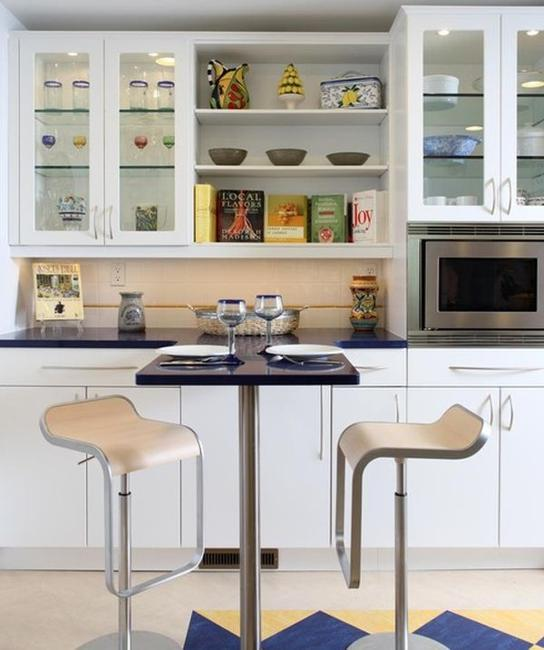 Contemporary Kitchen Cabinet Design: Decorating With Glass Cabinets Doors Brings Light Into