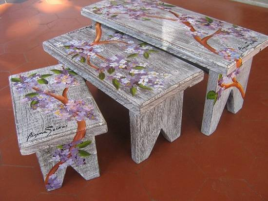 Painting Ideas For Small Wood Furniture Decoration
