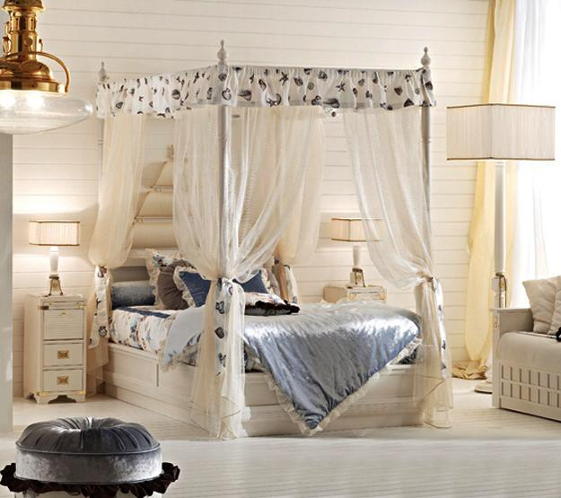 kids furniture, canopy beds for children bedroom decorating