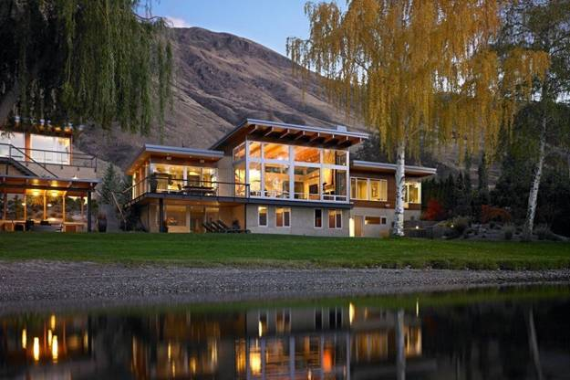 fall yard landscaping, modern homes