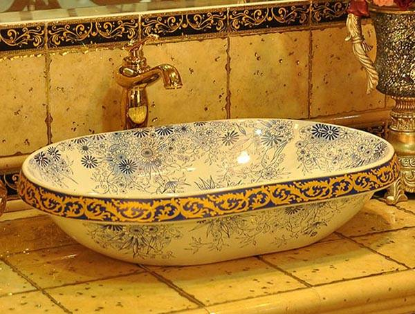 Modern Bathroom Sinks With Beautiful Prints Bathroom
