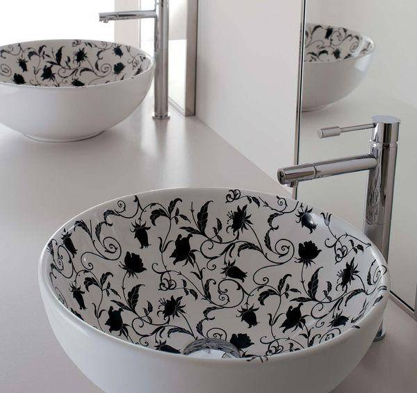 Modern Bathroom Sinks With Beautiful Prints Bathroom