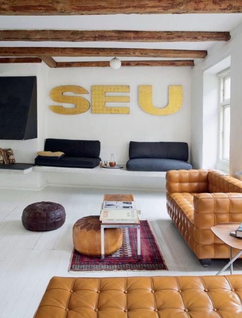 loft living in scandinavian style