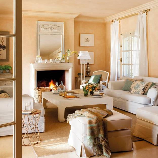Living Room Decorating In Soft White And Light Neutral Colors