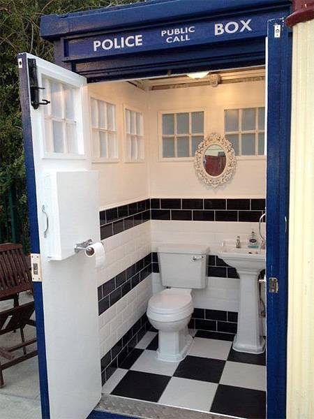 Small Bathroom Design Ideas Storage Furniture And Accessories Inspired By Tardis