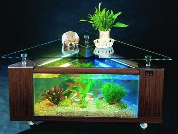 useful tips for successful interior decorating with aquariums. Black Bedroom Furniture Sets. Home Design Ideas