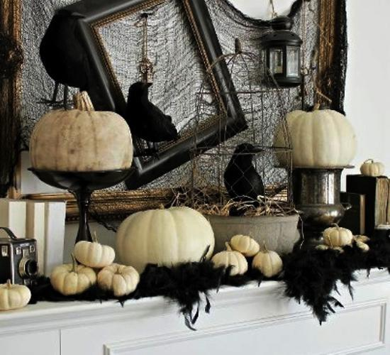 21 Black And White Decorating Ideas For Halloween Party In