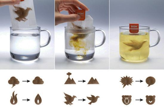 food decoration and design, herbal tea bags