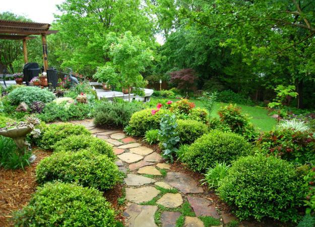landscaping paths and walkways 25 Yard Landscaping Ideas Curvy Garden Path Designs To Feng