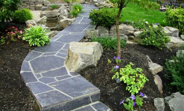 25 yard landscaping ideas curvy garden path designs to - Small backyard landscape designs ...