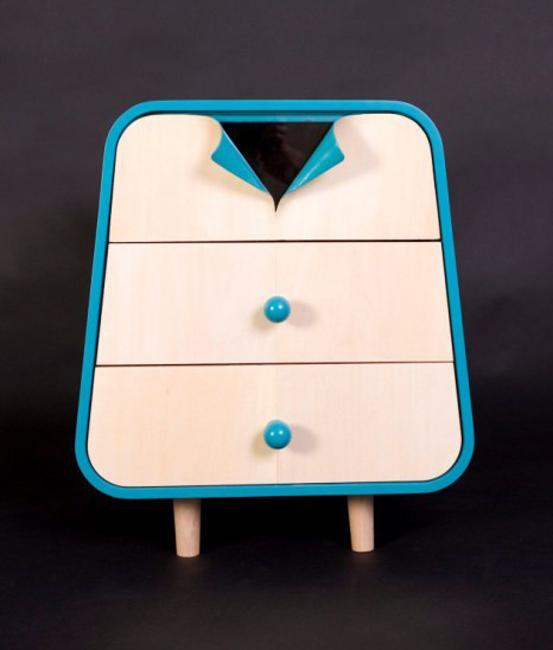 unique furniture for storage with unbuttoned button detail