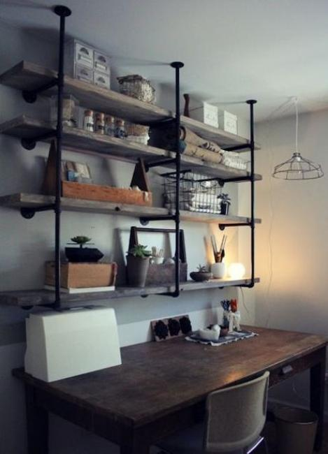 25 Plumbing Pipe Shelving Units that Fit in with Modern ...