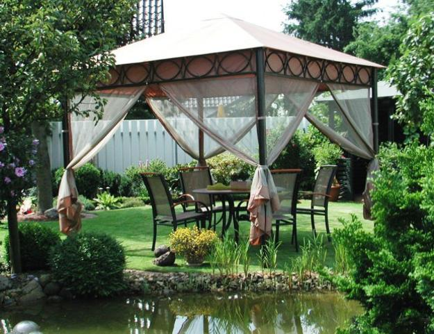 gazebo placement and beautiful backyard ideas