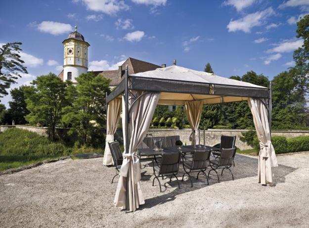 gazebo furniture ideas fireplace 25 metal gazebo designs and great outdoor furniture placement ideas