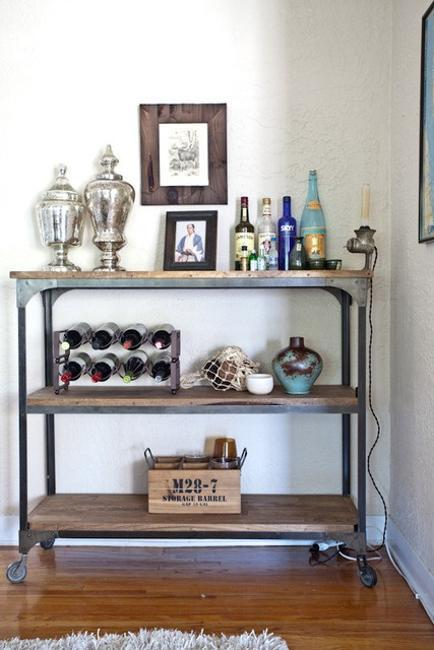 modular shelving and storage ideas in industrial style