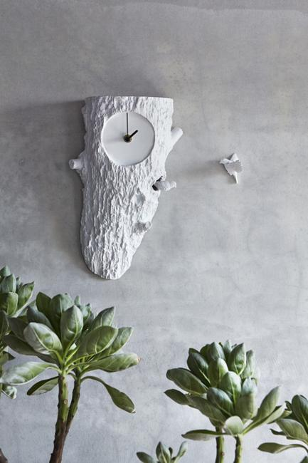 birdhouse wall clocks with two cuckoo birds, home accents for white decorating