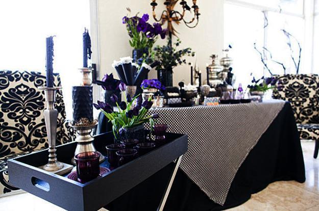 25 halloween decorating ideas using purple colors