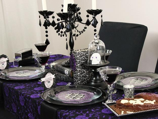25 Halloween Decorating Ideas Using Purple Colors