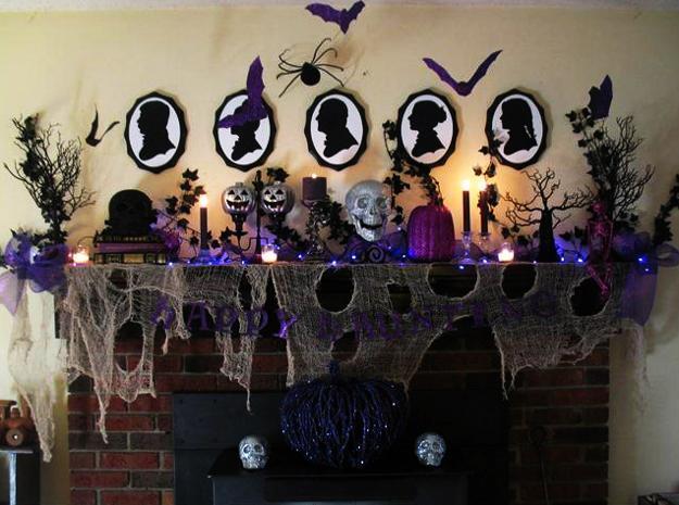 21 Stylish Living Room Halloween Decorations Ideas: 25 Halloween Decorating Ideas Using Purple Colors
