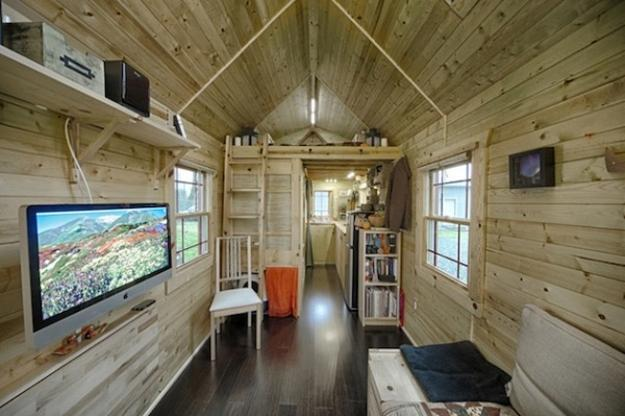 Small House With Large Windows And