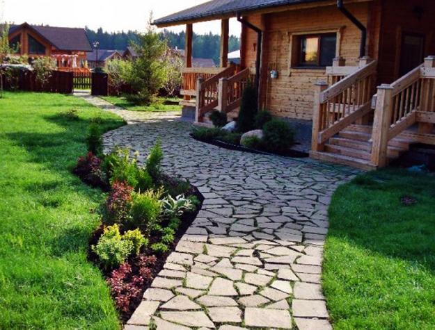 30 stone walkways and garden path design ideas. Black Bedroom Furniture Sets. Home Design Ideas