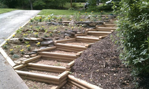 30 Green Design Ideas for Beautiful Wooden Garden Paths on Wooded Backyard Ideas id=71972