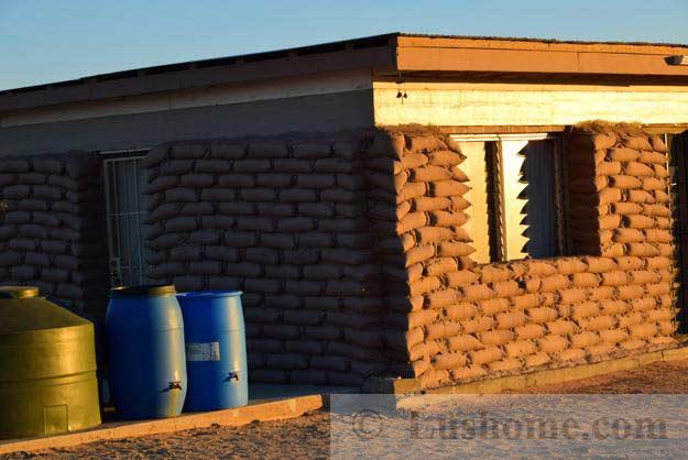 Simple Earthbag House Design, Cheap Green Building Idea for Desert ...