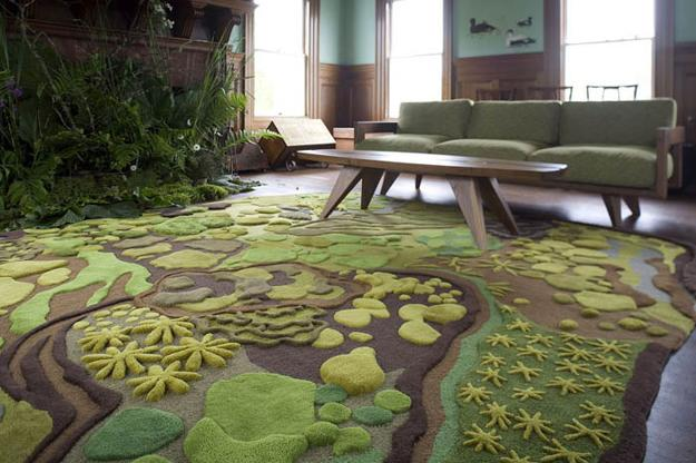 Charmant Creative And Modern Ideas For Interior Decorating With Unusual Contemporary  Rugs