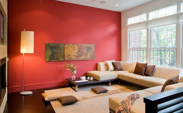 Ordinaire Modern Living Room Designs In Rich And Energetic Red Colors