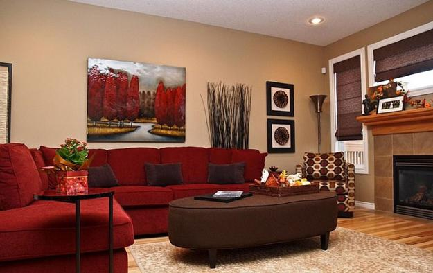 Red Living Room: Modern Living Room Designs In Rich And Energetic Red Colors