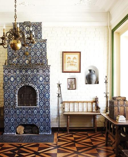 Amazing Tiled Stoves Vintage Style For Modern