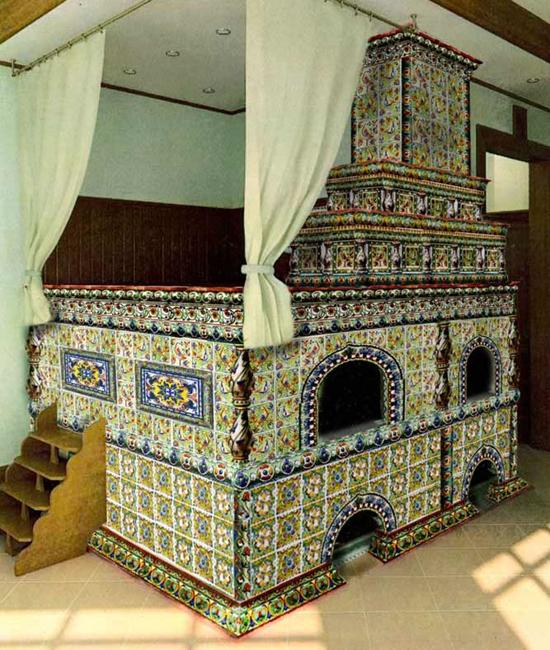Russian Interior Decorating Style Vintage Decor Ideas For: 25 Amazing Tiled Stoves In Vintage Style For Modern