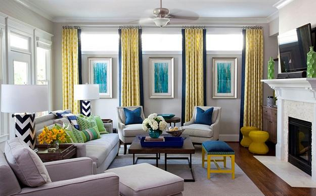 Room Design And Decorating With Yellow And Blue Colors